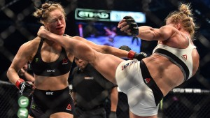 Holly Holm's well-timed high kick, which finished a stunned Ronda Rousey.